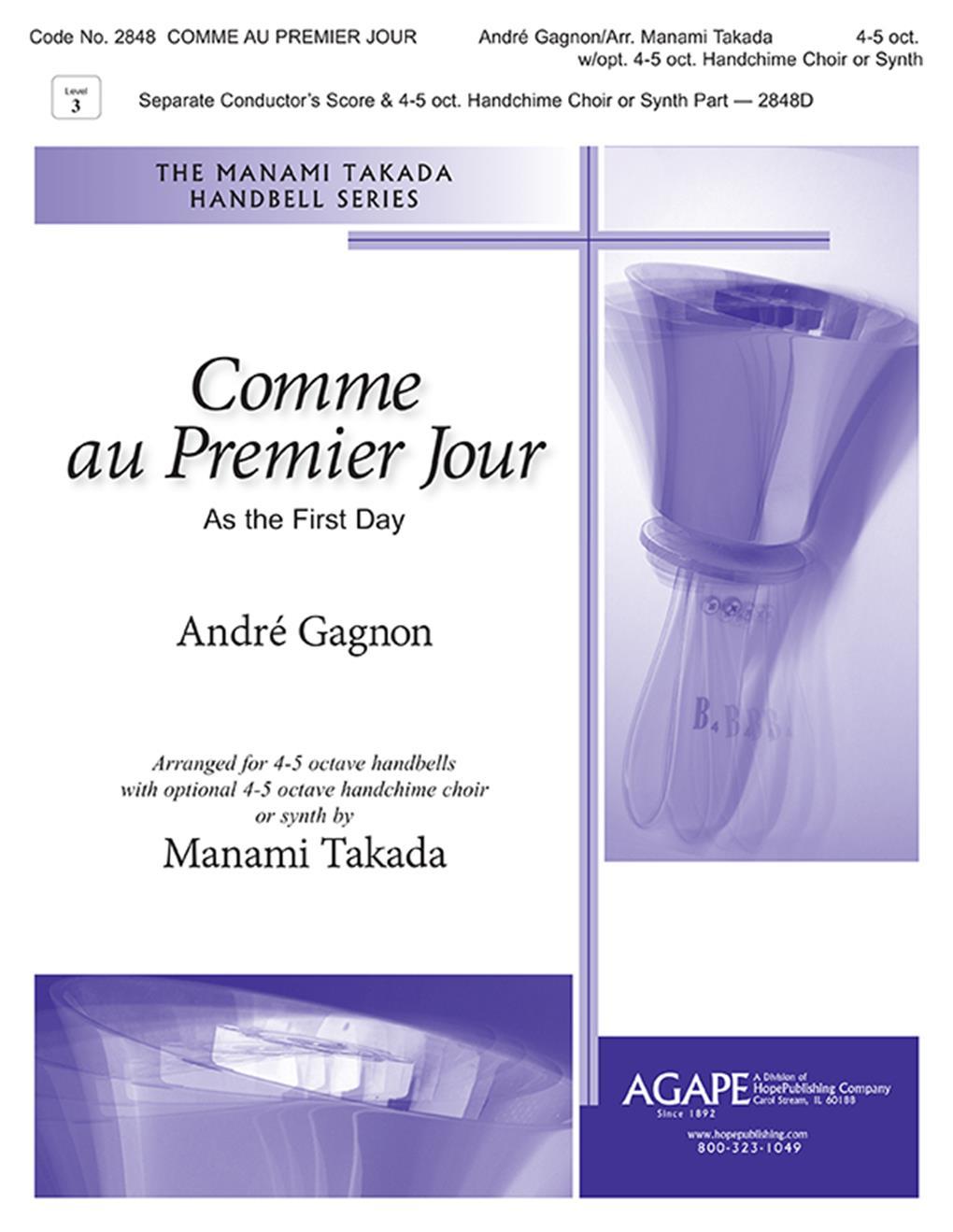 Comme Au Premier Jour - 3-5 oct. w- opt. 3-5 oct. Handchime choir part Cover Image