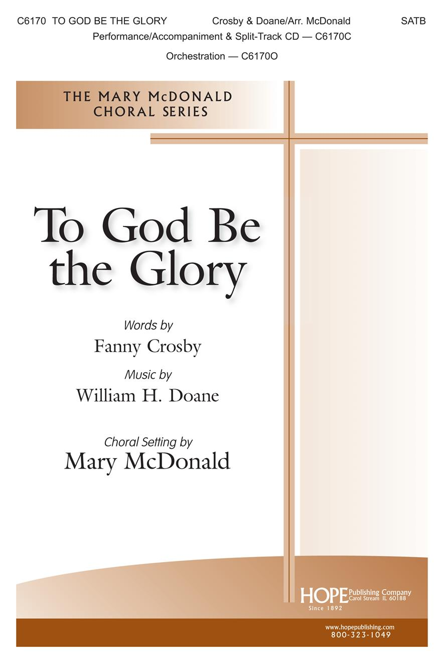To God Be The Glory - SATB Cover Image