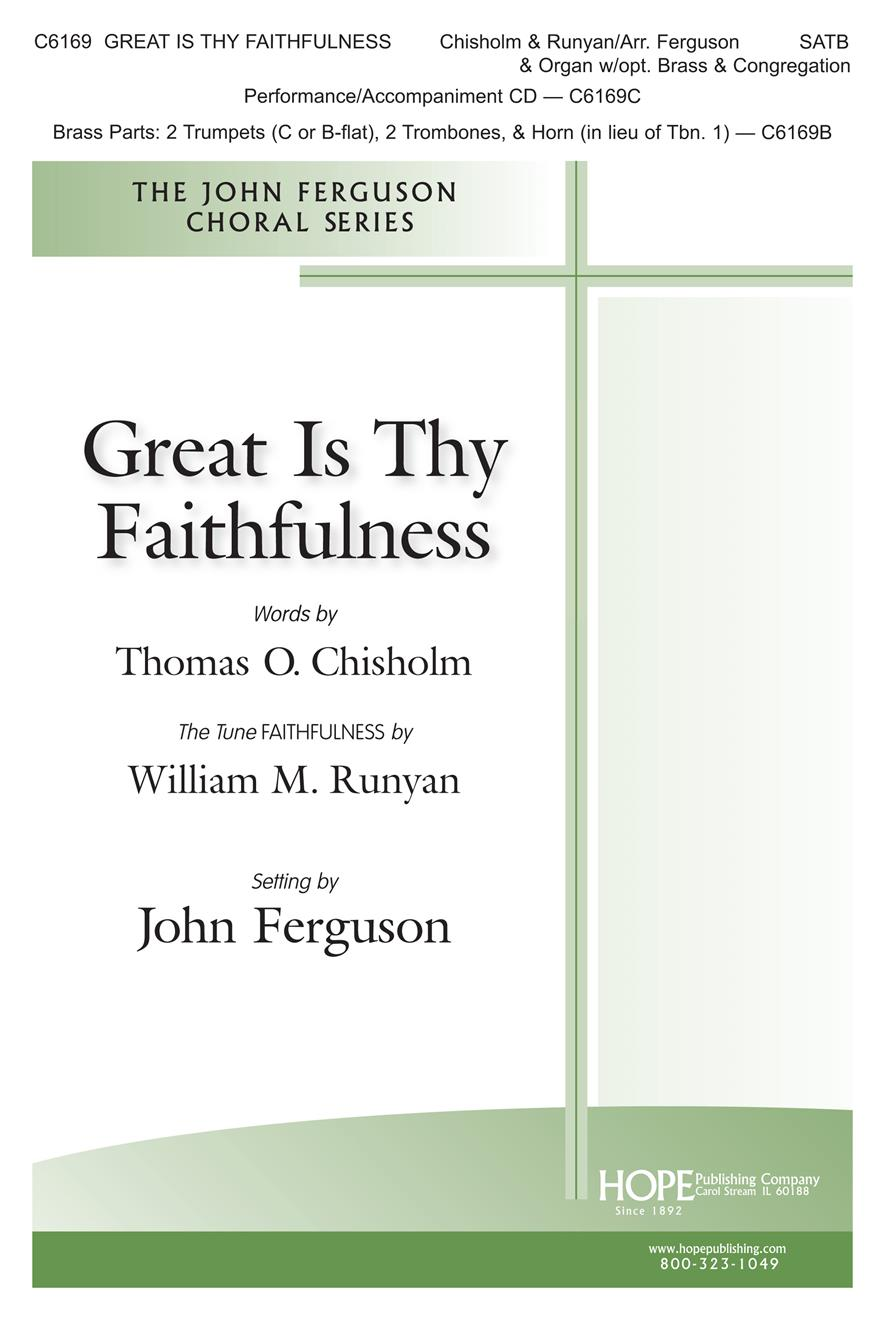 Great is Thy Faithfulness - SATB w- opt. Brass and congregation Cover Image