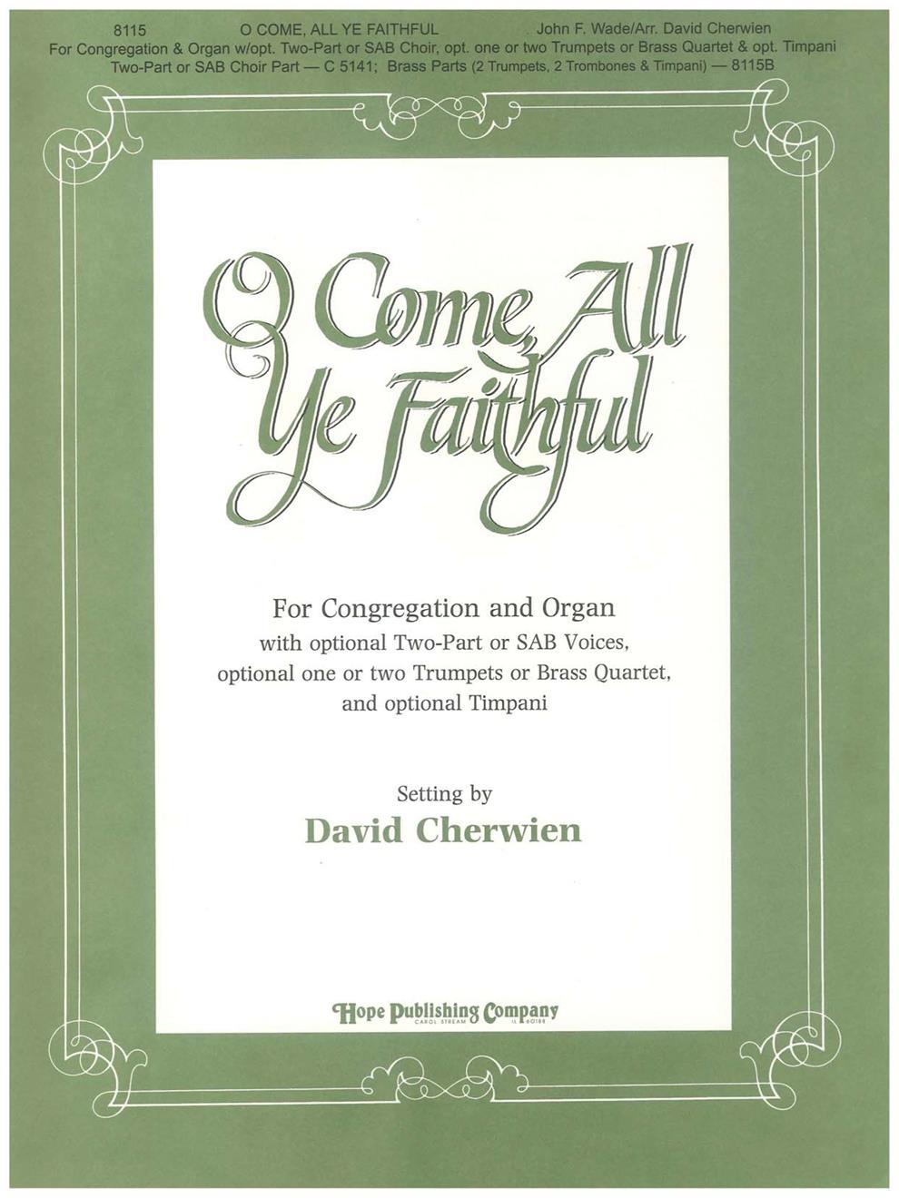 O Come All Ye Faithful - Organ Score Cover Image