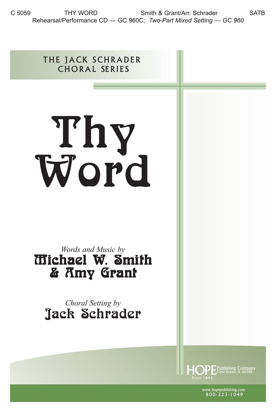Thy Word - SATB Cover Image