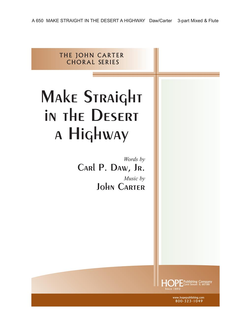Make Straight in the Desert a Highway - 3 Part and Flute Cover Image