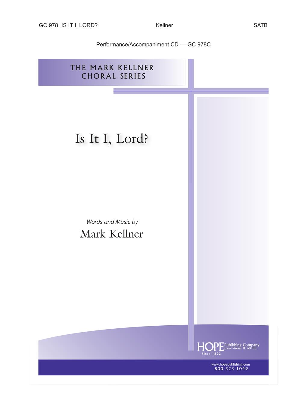 Is It I Lord - SATB Cover Image