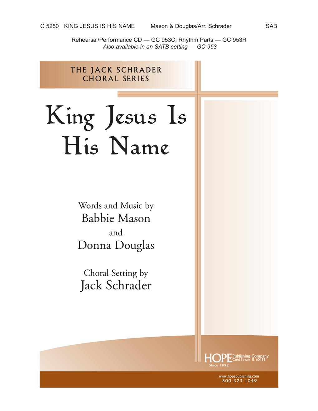 King Jesus Is His Name - SATB Cover Image