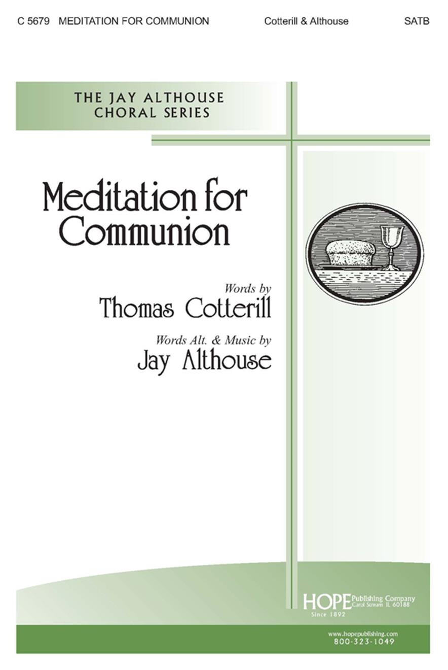 MEDITATION FOR COMMUNION - Cover Image