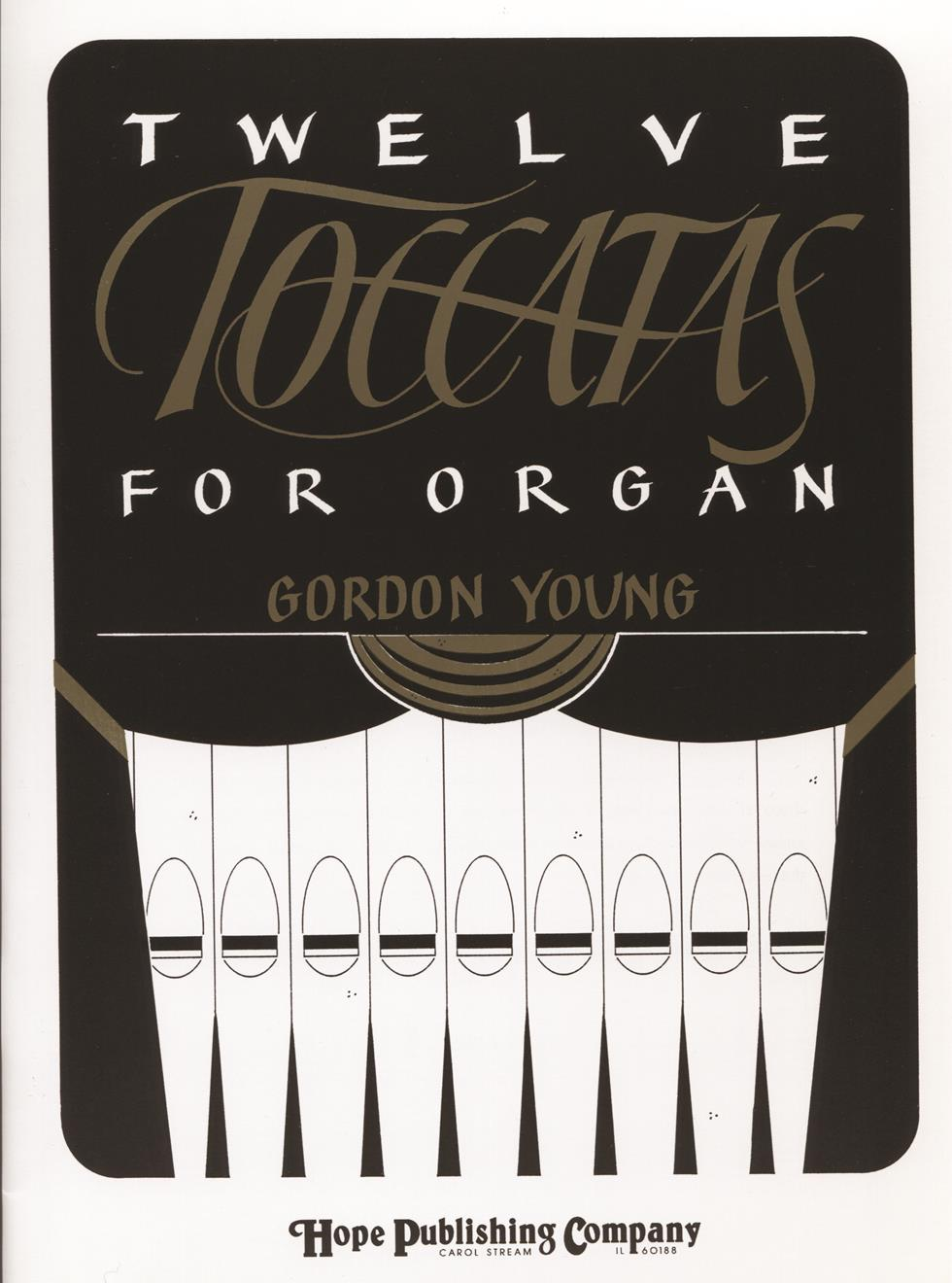 TWELVE TOCCATAS FOR ORGAN - Cover Image