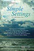 Simple Settings for SAB Choirs, Vol. 2 - Preview Pack-Digital Version