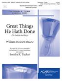 Great Things He Hath Done - 3-5 Oct. w-opt. 3-5 Oct. Handchimes Cover Image