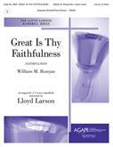 Great Is Thy Faithfulness - 3-5 oct. and piano