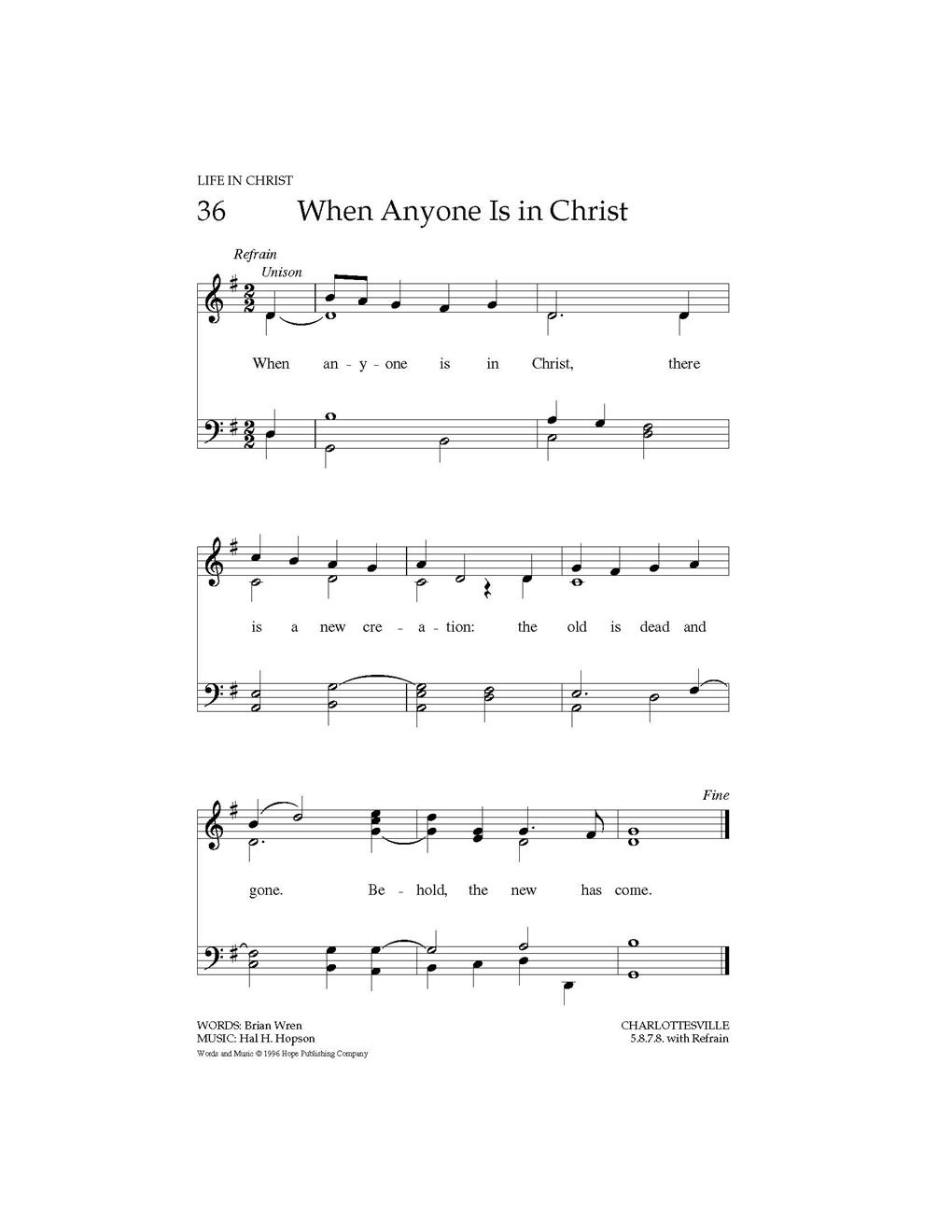 When Anyone Is in Christ Cover Image