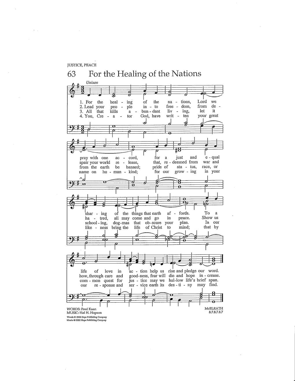 For the Healing of the Nations Cover Image