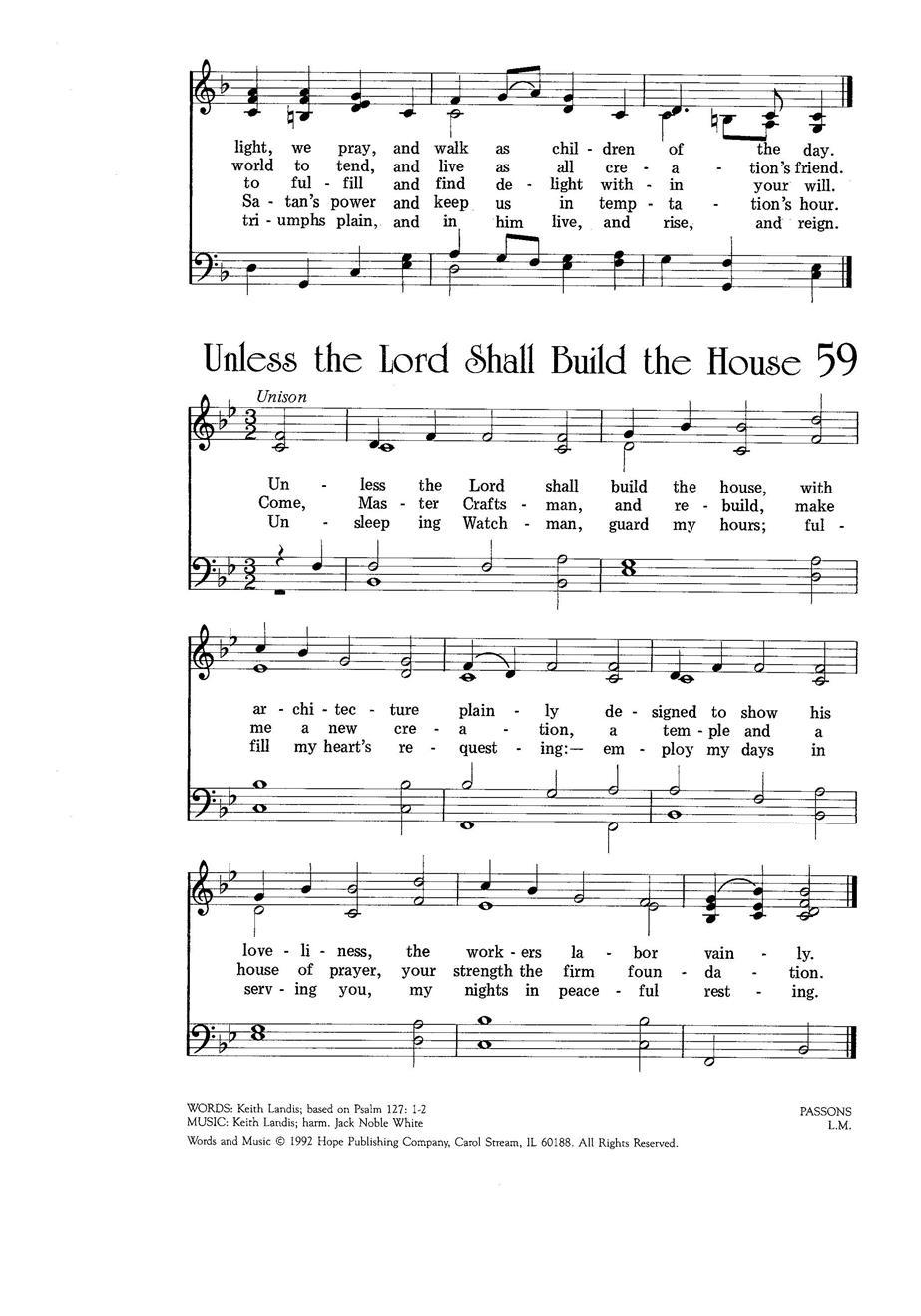 Unless the Lord Shall Build the House Cover Image