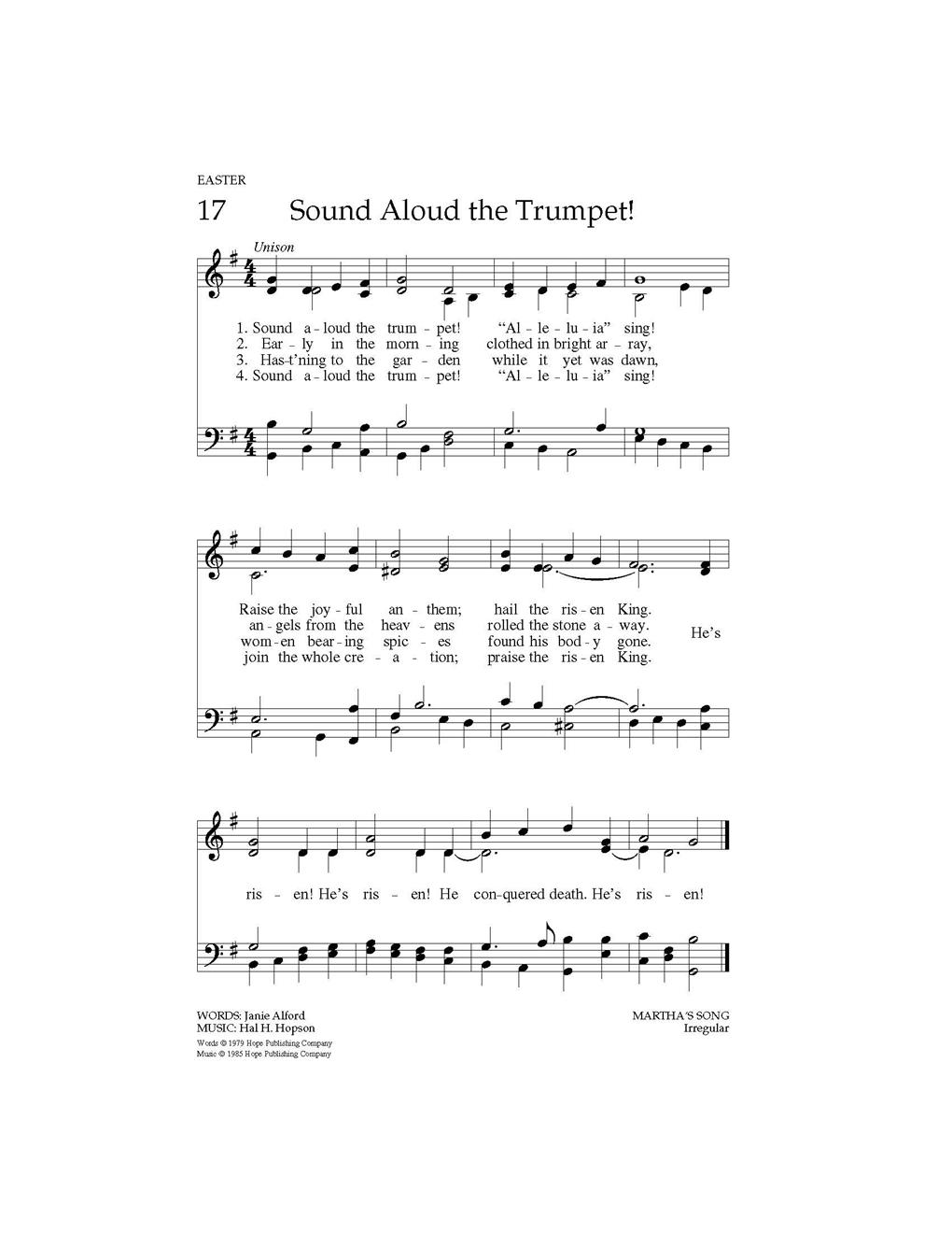 Sound Aloud the Trumpet - Hope Publishing Company