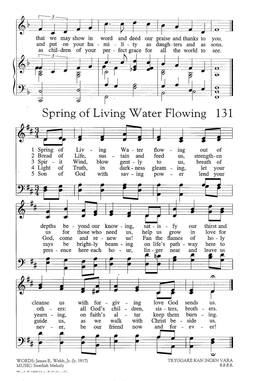 Spring of Living Water Flowing Cover Image