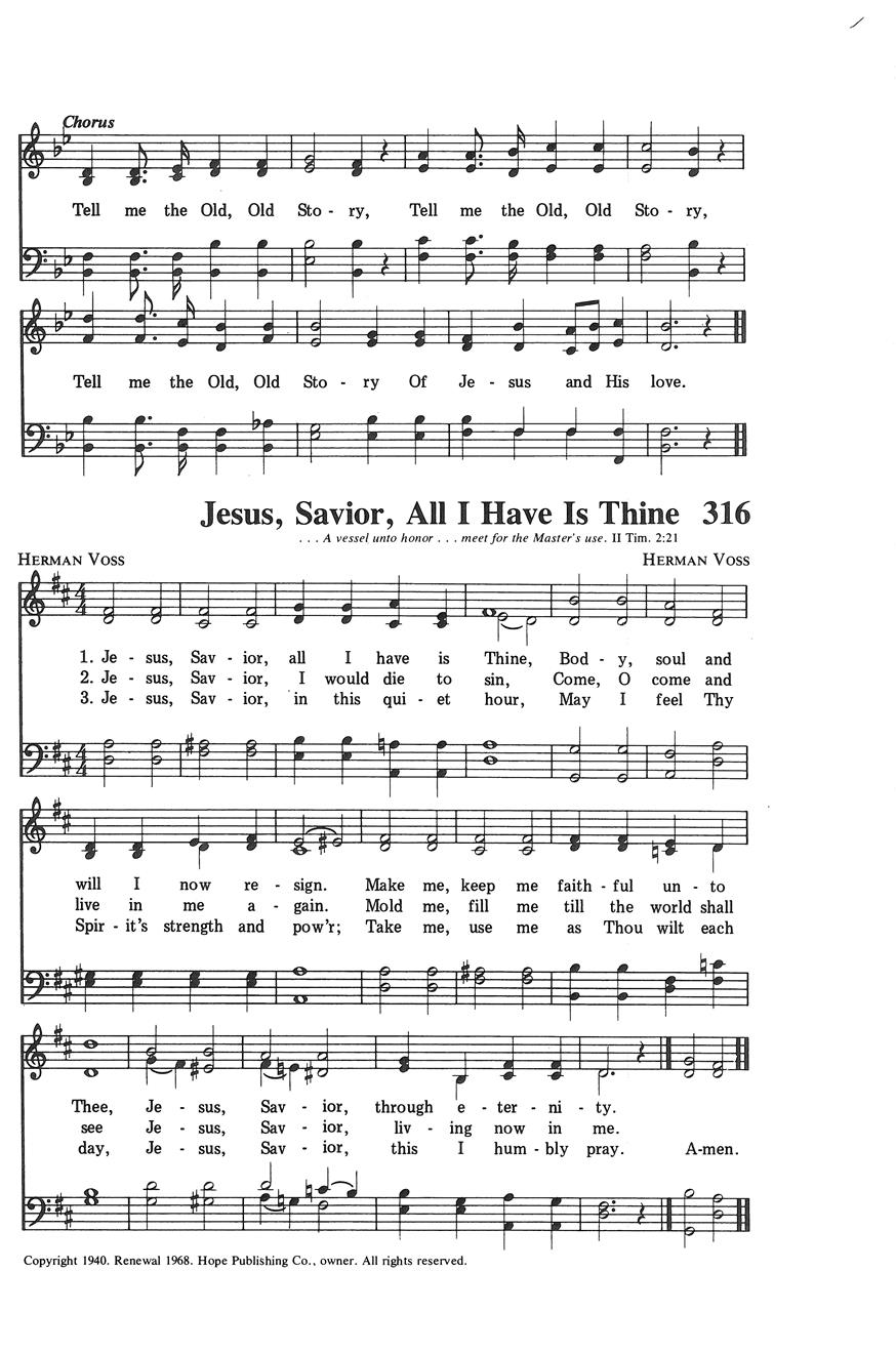 Jesus Savior All I Have Is Thine Cover Image