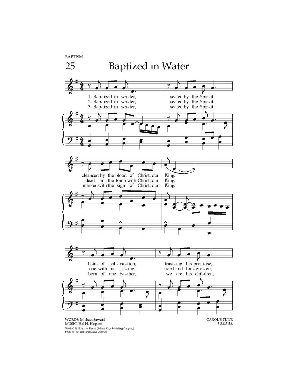 Baptized in Water Cover Image