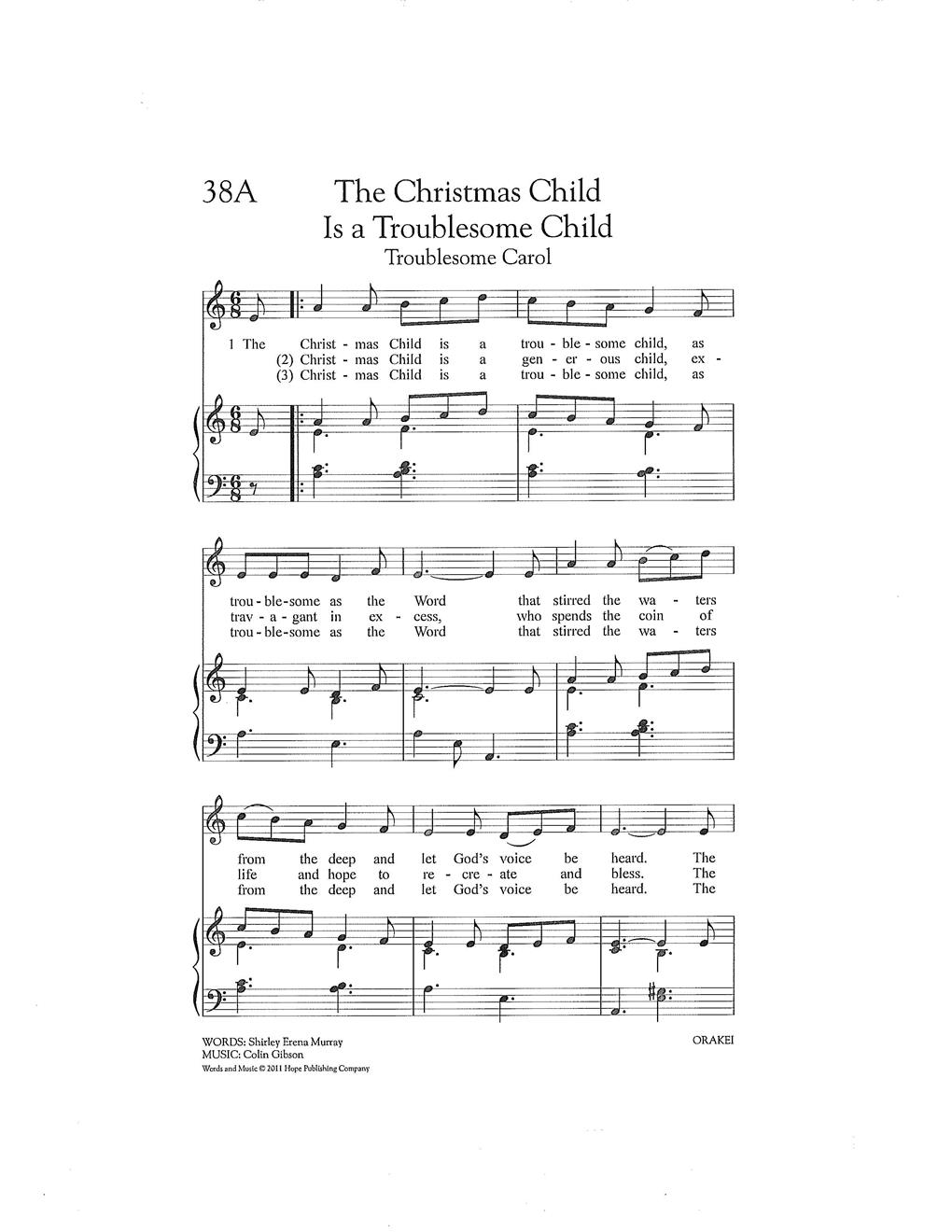The Christmas Child Is a Troublesome Child (Troublesome Carol) Cover Image