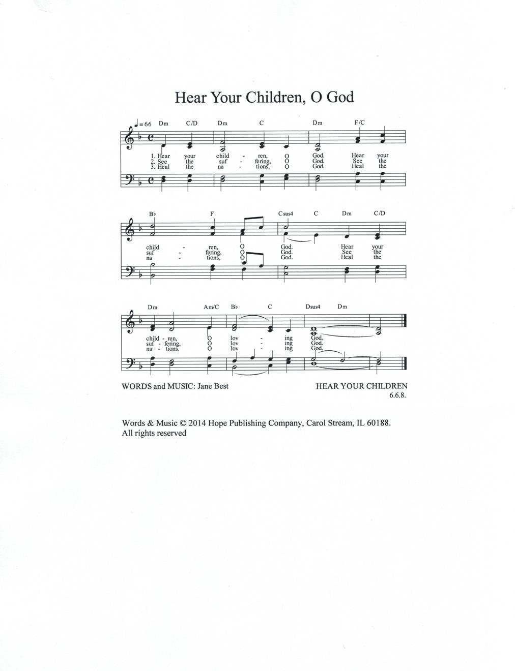 Hear Your Children O God Cover Image